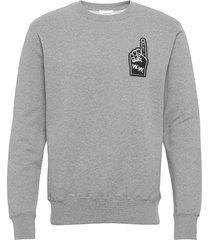 hugh sweatshirt sweat-shirt trui grijs wood wood