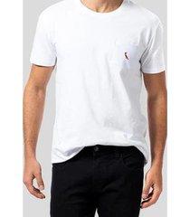 camiseta br bolso br pica-pau bordado reserva - masculino