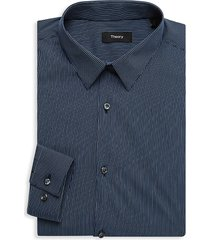 theory men's cedrick regular-fit striped dress shirt - sky light blue - size 14.5 r