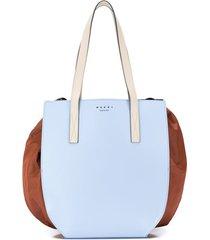 marni bolsa tiracolo color block - azul