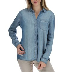 blusa manga larga ema azul rockford