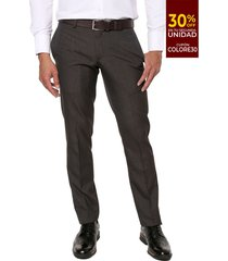 pantalón formal gris oscuro colore
