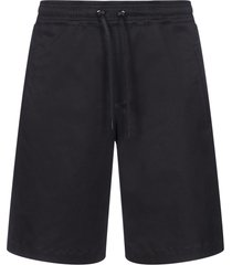 neil barrett workwear stretch cotton shorts