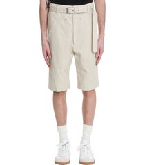 isabel marant paolino shorts in beige cotton