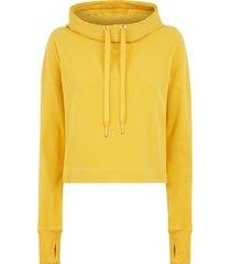 escape luxe fleece cropped hoodie