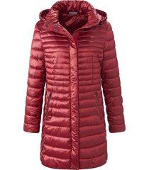 doorgestikte jas met staande kraag en capuchon van mybc rood