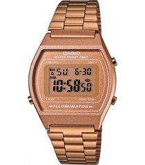 reloj casio retro digital oro rosa b640wc-5a oro rosa