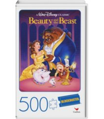 500-piece adult jigsaw puzzle in plastic retro blockbuster vhs video case, beauty and the beast