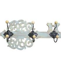 cabideiro chave em madeira kasa ideia - multicolorido - dafiti