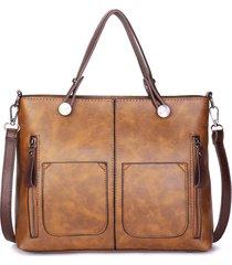 donna retro tote bag borsa a tracolla nastro da appuntamento con grande capacità