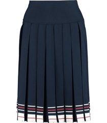 thom browne pleated knit skirt