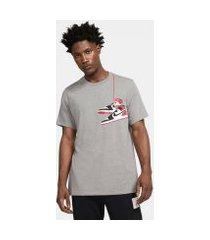 camiseta jordan aj1 shoe masculina