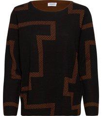 pullover long-sleeve stickad tröja svart gerry weber