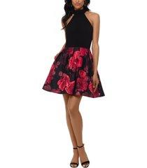 betsy & adam floral-skirt dress