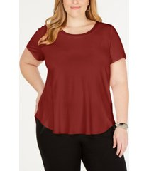 alfani plus size scoop-neck t-shirt, created for macy's