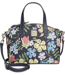 new dooney & bourke midnight floral print ruby mini satchel
