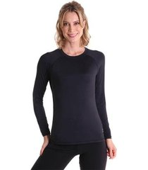 camiseta feminina manga longa antiviral efeito permanente - feminino