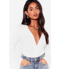 womens collar it what you want ribbed knit cardigan - white