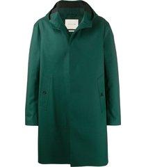 mackintosh clarkston hooded coat - green