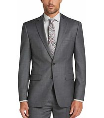 calvin klein x-fit gray sharkskin slim fit men's suit - size: 46 long