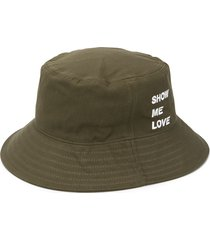 honey fucking dijon show me love bucket hat - green