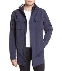 men's canada goose black label wascana hooded rain jacket, size x-large - blue