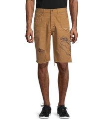 prps men's egg harbor distressed shorts - khaki - size 32