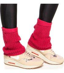 meias performance mulher elastica polaina fitness tricô - rosa escuro - u rosa