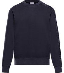 men's moncler logo embroidered crewneck sweatshirt