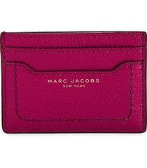 marc jacobs women's empire city leather card case - black