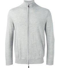 n.peal 'the hyde' full zip sweatshirt - grey