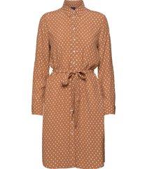 d1. desert jewel print shirt dress kort klänning brun gant