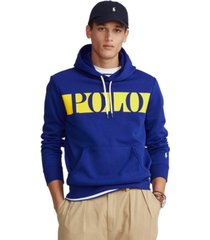 polo ralph lauren men's double-knit graphic hoodie