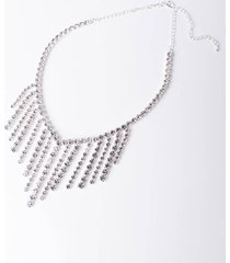akira all or nothing rhinestone necklace