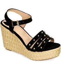 sandalias de plataforma negro bata hastind mujer