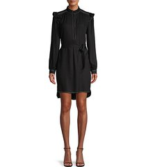 gadella tie-belt shirtdress