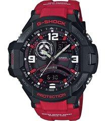 reloj g shock ga_1000_4b rojo resina