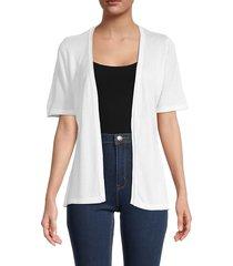 joseph a women's short-sleeve cardigan - white - size l