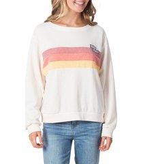 women's rip curl revival stripe sweatshirt