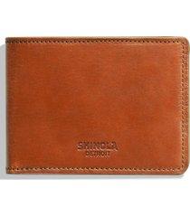 men's shinola harness slim 2.0 bifold leather wallet - brown