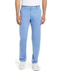 men's rhone commuter straight fit pants, size 35 - blue