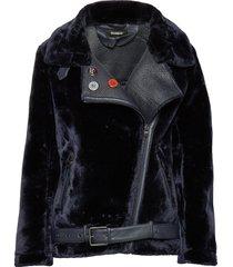 chaq oslo outerwear faux fur zwart desigual