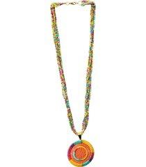 collar imperial dije ciro tejido multicolor pastel bijulovers