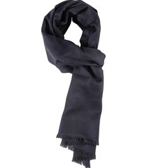 salvatore ferragamo fringed edge embroidered logo scarf