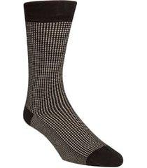 men's cole haan check dress socks, size one size - black