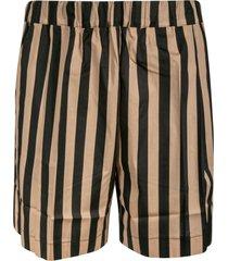 laneus stripe print shorts