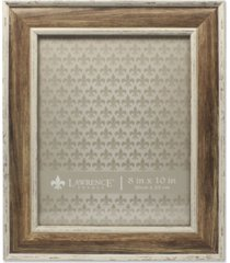 """lawrence frames weathered walnut picture frame - domed top - 8"""" x 10"""""""