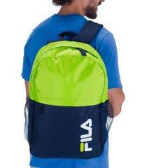 mochila fila ripstop - 22 litros - verde cla/azul esc