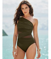 network jena firm control one-piece swimsuit