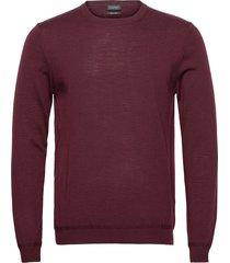 sweaters stickad tröja m. rund krage röd esprit collection